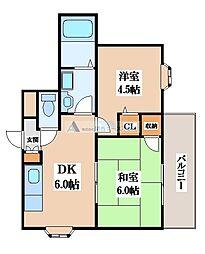 アルファ灰塚[2階]の間取り
