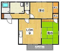 グランメールK  B棟[1階]の間取り