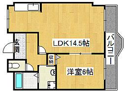 コスモピア野崎[3階]の間取り