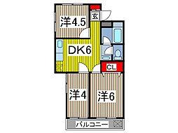 メイトハイツ[1階]の間取り