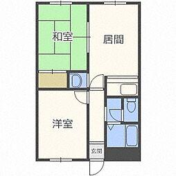 フォレスト新札幌[406号室]の間取り