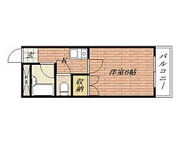 大阪府茨木市宮元町の賃貸マンションの間取り