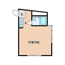 奈良県大和高田市礒野南町の賃貸マンションの間取り