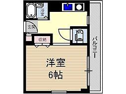 ナチュール茨木[3階]の間取り