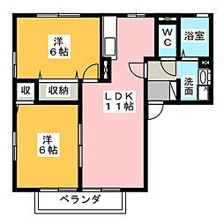 グリーンアベニュー[1階]の間取り