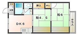 石山グリーンハイツ[1階]の間取り