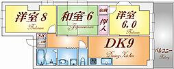 ドゥエル須磨浦[603号室]の間取り