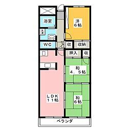 グレイスミヤ田町[5階]の間取り