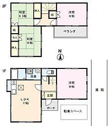 [一戸建] 埼玉県熊谷市柿沼 の賃貸【/】の間取り