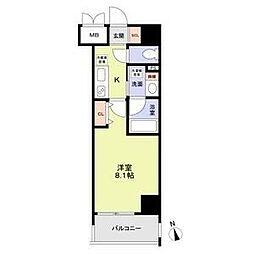 名古屋市営鶴舞線 丸の内駅 徒歩8分の賃貸マンション 9階1Kの間取り