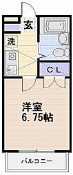 ジュネパレス藤沢第13[203号室]の間取り