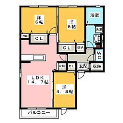 レジデンス小野[2階]の間取り