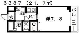 オーシャン藤ヶ丘[203号室号室]の間取り
