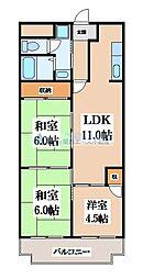 レジデンシア吉田[2階]の間取り