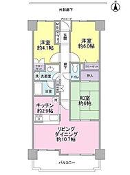 東急ドエル・アルス津田沼東[203号室]の間取り
