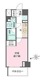 東京メトロ有楽町線 江戸川橋駅 徒歩7分の賃貸マンション 3階1Kの間取り
