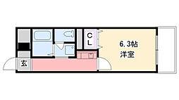 ソリオ武庫川[607号室]の間取り