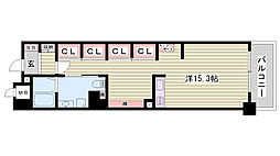JR東海道・山陽本線 姫路駅 バス10分 元町3丁目下車 徒歩4分の賃貸マンション 7階1Kの間取り