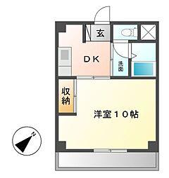 グリーンハイツ徳川[4階]の間取り