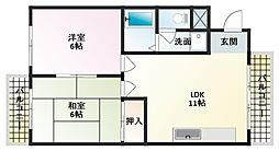 アスク八島[6階]の間取り