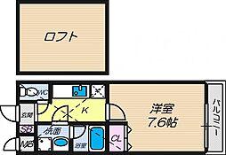 フジパレスえんじゅ[2階]の間取り