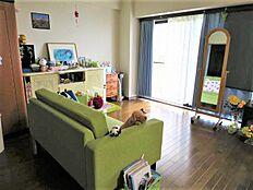 リビング:ワイドリビングなので開放感がありますね。家具を置いてもまだまだ余裕があります。