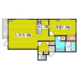 北海道札幌市東区北十九条東20丁目の賃貸マンションの間取り