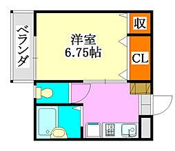ベース藤喜[2階]の間取り