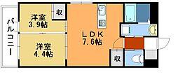 AKAMA77'sマンション[7階]の間取り