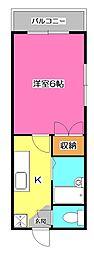 埼玉県所沢市弥生町の賃貸アパートの間取り