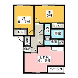スプリングベル[2階]の間取り