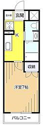 東京都東大和市南街1丁目の賃貸マンションの間取り
