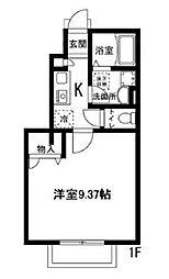 K'sHOUSE(ケーズハウス) 1階1Kの間取り