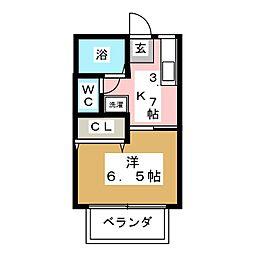 コーポグレース[1階]の間取り