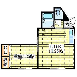 尾崎ビル[2階]の間取り