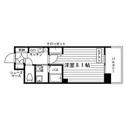 愛知県名古屋市天白区八事石坂の賃貸マンションの間取り