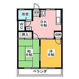 メゾンハッピーズ[2階]の間取り