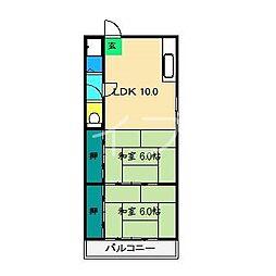 第一桜井マンション[2階]の間取り