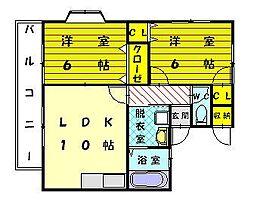 バルト美和台III[1階]の間取り