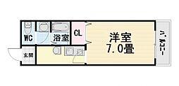 大阪府堺市西区鳳東町5丁の賃貸アパートの間取り