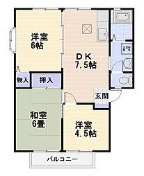 フラットベルII[1階]の間取り