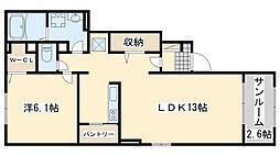 サクール2[1階]の間取り