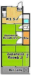 二之江サニーコーポ[3階]の間取り