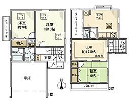 [一戸建] 千葉県流山市野々下3丁目 の賃貸【/】の間取り