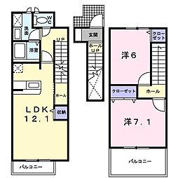 メゾンリバーサイド[2階]の間取り