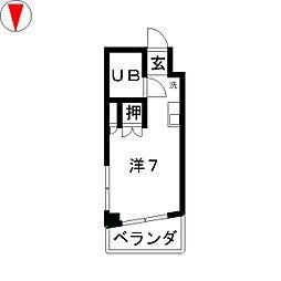 シェスタ桜山[5階]の間取り