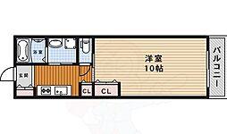 阪急千里線 北千里駅 バス9分 小野原東五丁目下車 徒歩6分の賃貸マンション 3階1Kの間取り