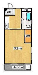 ハシバマンション[2階]の間取り