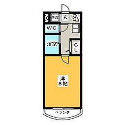 ベルコート三好I[1階]の間取り