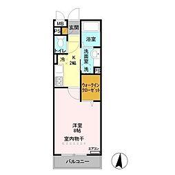 ヴィルクレール2[1階]の間取り